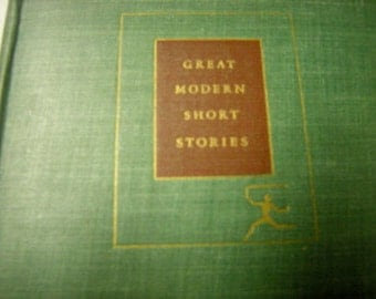 vintage book-modern short stories-modern library-random house 1942-book shelf-