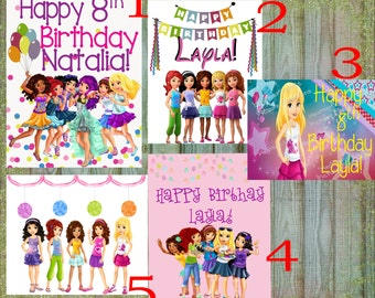Lego Friends Birthday Sign, Lego Friends Birthday Decorations, Buy one get one free