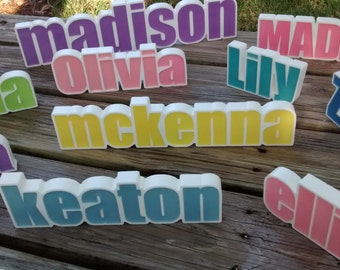 Personalized Names, Desk Name Plate, Custom Nursery Names, Personalized Kids Birthday Party Favor, Kids Names, Photo Props, Teachers Gifts