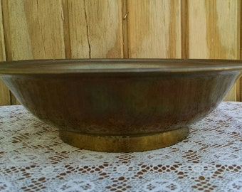Vintage Large Brass Bowl