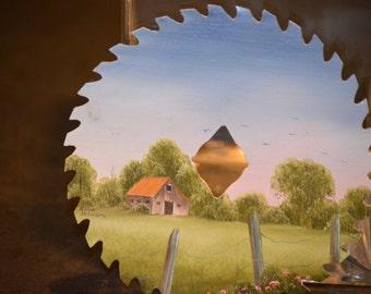 Saw Blade Acrylic Painting