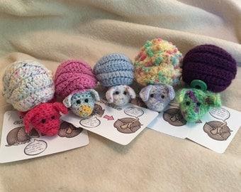 Crochet Roll-Up Armadillo Plush Toy
