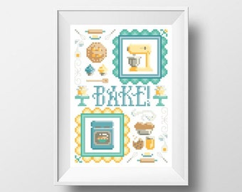 PDF - Bake! Sampler Cross Stitch Pattern