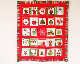 Kids advent calendar, Christmas advent calendar, Fabric advent calendar, Reusable advent calendar, Christmas keepsake, Advent calendar