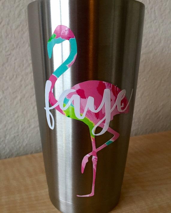 Lilly Inspired Flamingo Decal From Blushandbashfulco On