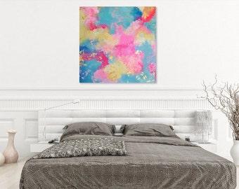 90 - original abstract painting (acrylic on canvas) wall art interior design homedecor
