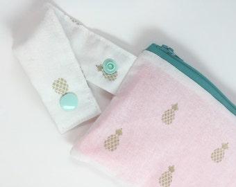 Zipper Pouch, Wet Dry Zipper Bag, Reusable Snack Bag, Cell Phone Pouch, Travel Snack Bag