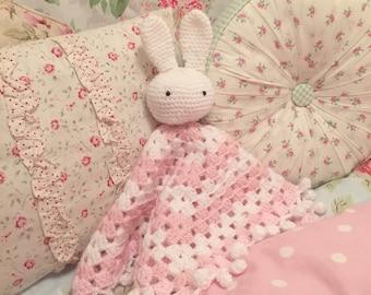 Crochet bunny snuggle blanket