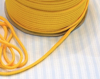 Cotton cord 4mm yellow