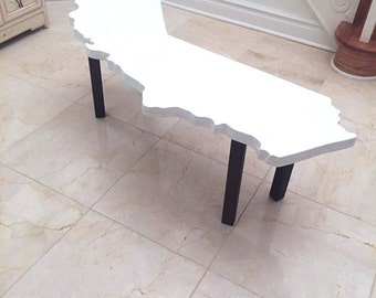 California State Premium Coffee Table, on Removable Bracket Legs (Any State Can Be Made!)