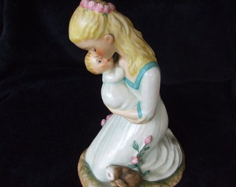 Vintage Goebel Charlot Byj Mother and Baby , Blonde Mother Embracing Baby , Motherhood