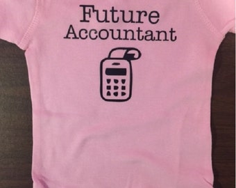 Future accountant baby shirt tax deduction baby one piece funny baby clothes