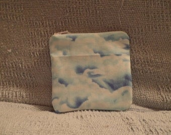 Small Clouds Zipper Pouch