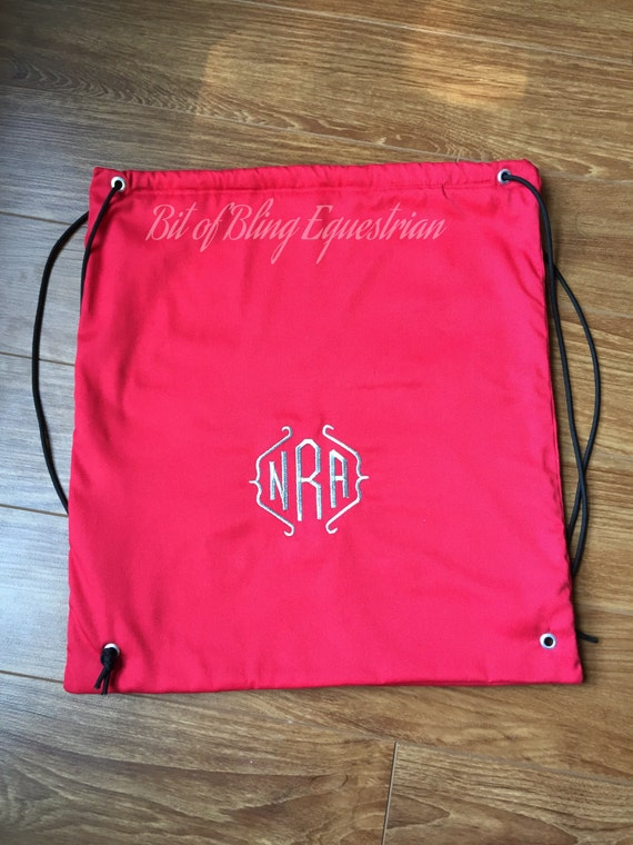 Custom Monogrammed Riding Helmet Carry Bag - custom colour