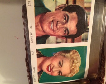 1950s childs vinyl wallet! Featuring Jeff Brando and Betty Grable