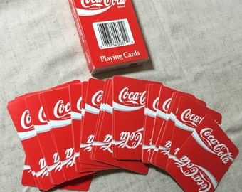 Vintage Authentic Coke Advertising Coca-Cola Playing Cards #351 1992