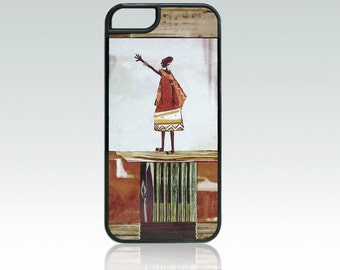 Africa iPhone 5 case, ethnic iPhone 5s cover, unique iPhone SE case, african woman, folk art