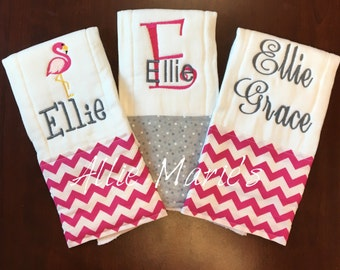 Baby Burp Cloths, Burp Cloths, Girl burp cloths, Embroidered Burp Clothes Personalized Burp Cloths, monogrammed burp cloths, baby gift
