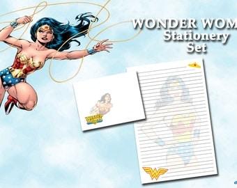 Wonder Woman Stationery - DC Comic Stationery