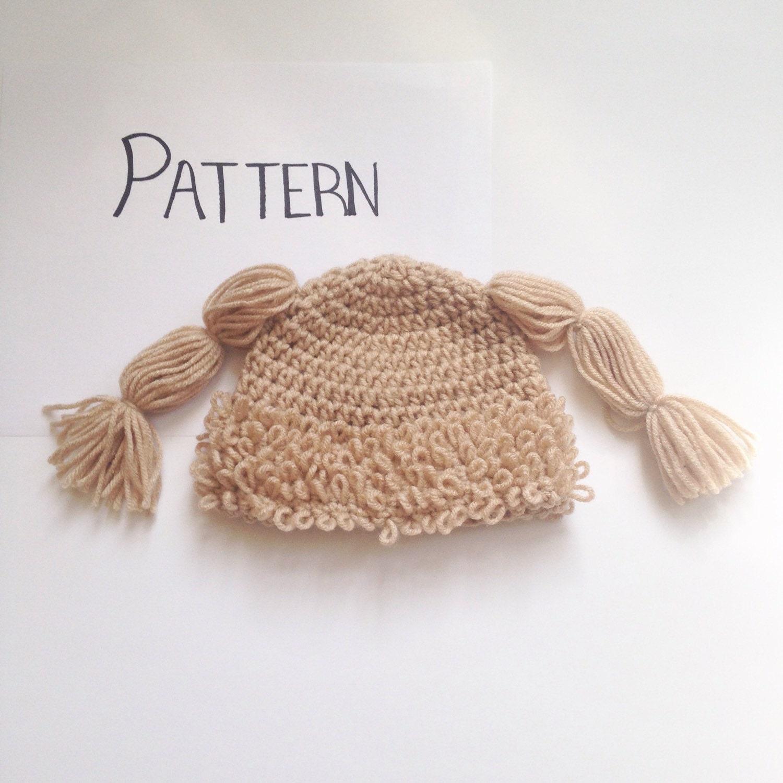 Free Pattern Crochet Cabbage Patch Hat : PATTERN Crochet Cabbage Patch Hat Pattern All by ...