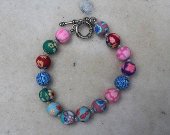 Polymer Clay Beaded Bracelet