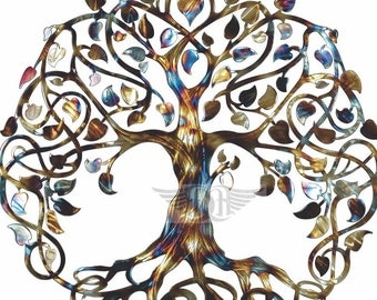 Infinity Tree Tree of Life Metal Wall Art Metal Tree Art Family Tree Mothers Day Gift Wedding Gift House Warming Gift