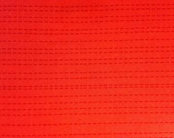 RUNNING STITCH by Michael Miller Fabrics - Dark Orange Stripe - Fabric - Quilting - Sewing - Home Decor