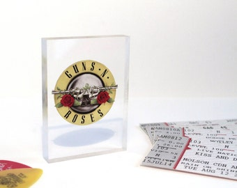 Guns 'n' Roses Band Logo Clear Printed Acrylic Token - Gift Ideas // Small Gifts // Unique // Rock / Metal // GNR // Axl // Slash