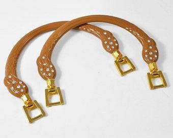 """5-3/4"""" Rhinestone Handbag Handles with Gold metal buckle by 1 pair, LT-5608"""