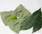 Harris Tweed Bow Tie - The Harry bow tie dog accessory, canine bling, green herringbone