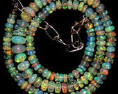 16.1'' AAA smooth roundel shape multi wello fire Ethiopian opal beads strands good quality wholesale price. 0579