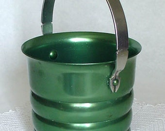 Vintage Kromex Green Color Ice Bucket at Lin's Antiques and Collectibles (Inventory #M2421)