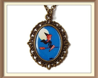 Bewitched Inspired Cameo Necklaces / Elizabeth Montgomery /Darrin Stephens / Witch / Magic / Endora / Samantha