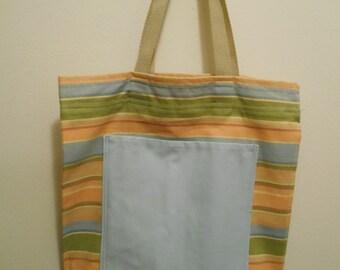 Tea Towel Tote Bag with Pocket