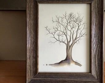 Original Painting, Black Tree