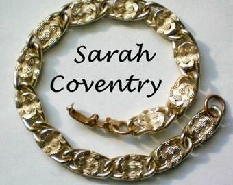 Sarah Coventry Gold tone Link Bracelet - 4407