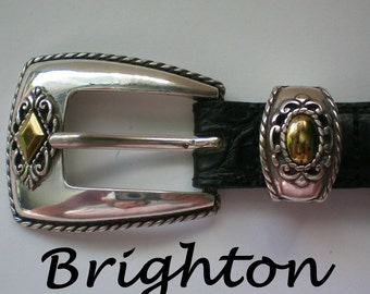 Brighton Black Leather Belt - 4621