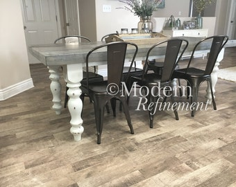 rustic farmhouse dinning table