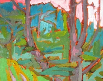 plein air painting series - West River Parkway - Minneapolis - 7 -original painting
