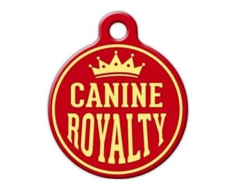 Canine Royalty Engraved Pet ID Tag - Personalized Engraved Dog Tag