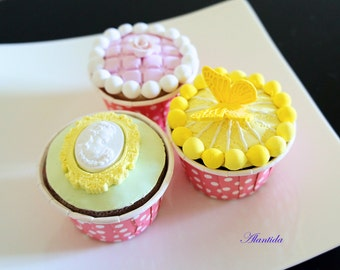 Cupcake, Realistic Fake Cupcakes,Fake Cupcake for Kitchen Decoration,Shower favour,Display Dessert