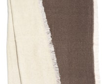 Stan - Double-sided blanket,brown and white