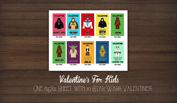 Star wars printable valentines day cards page two valentine s