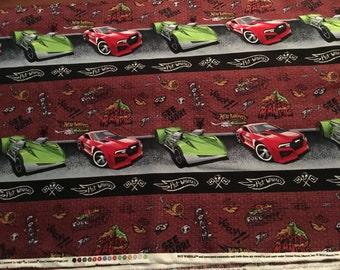 Mattel Hot Wheels - Cotton Fabric from VIP Cranston - 2010 OOP pattern