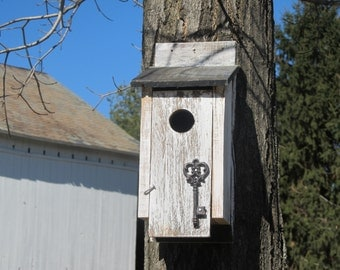 Whitewashed Bluebird House