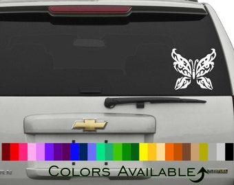 Tribal Butterfly Car Decal