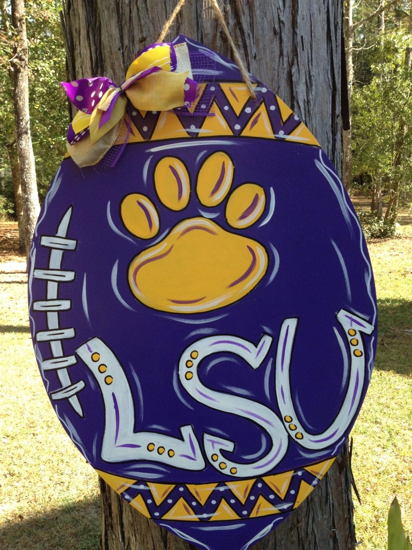 Lsu Tigers Football Door Hanger Door Wreath Louisiana