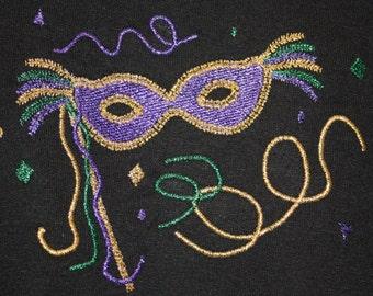Mardi Gras Mask machine embroidery design