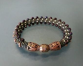 """Bead Crochet Bracelet """"Cater"""" (Elegant Bracelet, Beaded Bracelet)"""