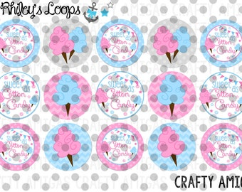 Sweet As Cotton Candy Pink And Blue Cute Bottle Cap Images